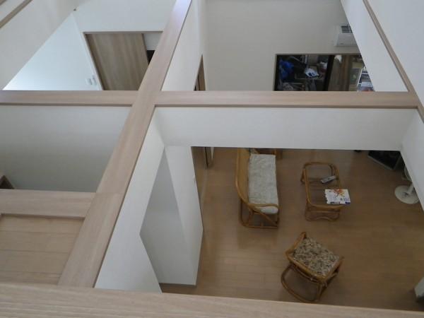 2階から見たリビング